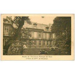 carte postale ancienne PARIS. Hôpitaux Hôpital Musée Assistance Publique Hôtel Miramion