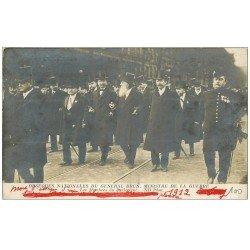 carte postale ancienne PARIS. Les Funérailles du Général Brun Ministre de la Guerre. Le Parlement 1912