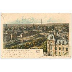 PARIS. Les Ponts et la Seine 1902 vus de la Tour Saint-Gervais