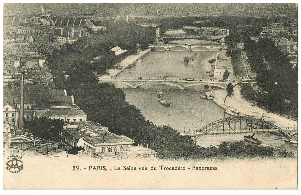 PARIS. Ponts vus du Trocadéro