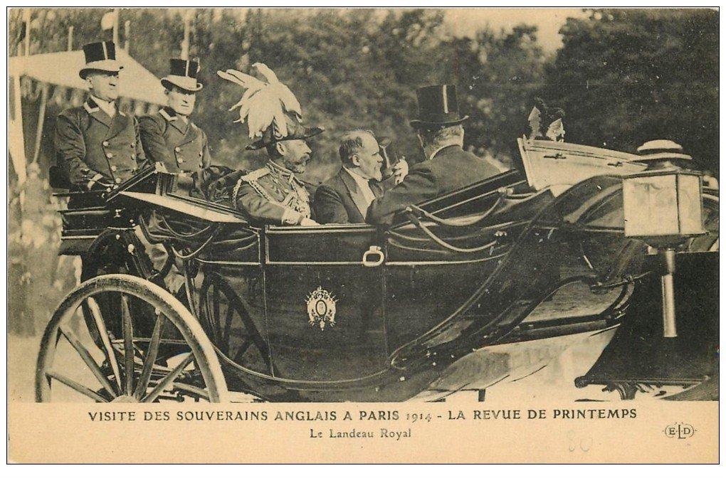 PARIS. Visite des Souverains Anglais dans Landeau Royal