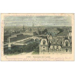 carte postale ancienne PARIS. Vue des Sept Ponts 1903