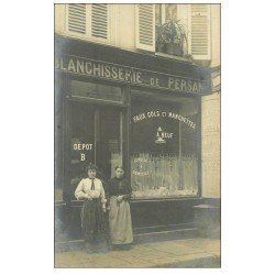 Superbe Carte Photo PARIS 06. Blanchisserie de Persan 36 Rue Saint-André -des-Arts 1906 pour Bagnolet