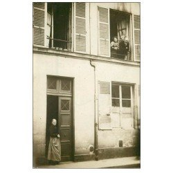 Superbe Carte Photo PARIS 07. La Concierge Rue Camou. Louise Chauvet vers 1905
