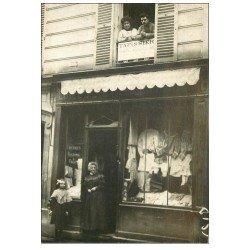Superbe Carte Photo PARIS 07. Lingerie Avenue de la Bourdonnais 1908. Festons à Façon et Tapissier à l'étage