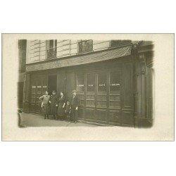 """carte postale ancienne Superbe Carte Photo PARIS 12. Café """""""" A l'Ancien Chauffeur """""""" Maison Ferrand Rue Traversière"""