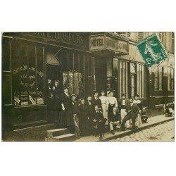 Superbe Carte Photo PARIS 12. Hôtel du Dauphiné 3 Rue d'Austerlitz. Café Absinthe Vermouth Madère. Journal le Socialiste