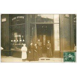 """Superbe Carte Photo PARIS 17. Cuisine """""""" Aux Délices """""""" Five o clock 1908 Avenue de Villiers et Rue Fortuny"""