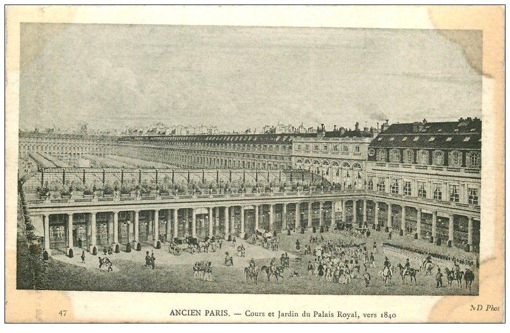 ANCIEN PARIS. Cour Jardin Palais Royal