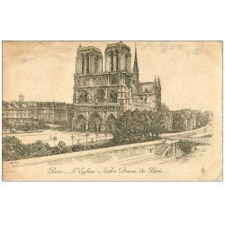 carte postale ancienne ANCIEN PARIS. Eglise Notre-Dame. Par Robin en 1905