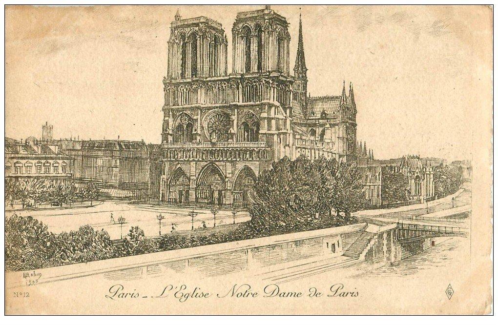 ANCIEN PARIS. Eglise Notre-Dame. Par Robin en 1905