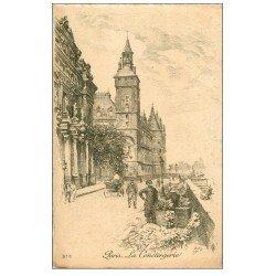 ANCIEN PARIS. La Conciergerie. Par Robin en 1904