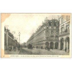 carte postale ancienne ANCIEN PARIS. La Rue de Rivoli 1835 Ministre des Finances