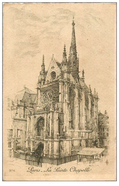 carte postale ancienne ANCIEN PARIS. La Sainte-Chapelle. Par Robin en 1905