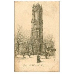 ANCIEN PARIS. La Tour Saint-Jacques. Par Robin en 1904