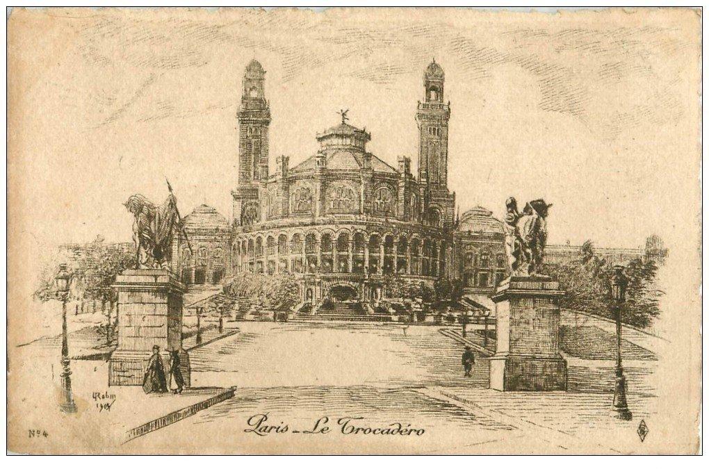 ANCIEN PARIS 16. Le Trocadéro. Par Robin en 1905