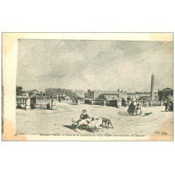 carte postale ancienne ANCIEN PARIS. Place Concorde 1835