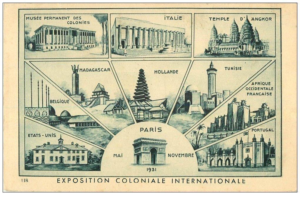carte postale ancienne EXPOSITION COLONIALE INTERNATIONALE PARIS 1931.