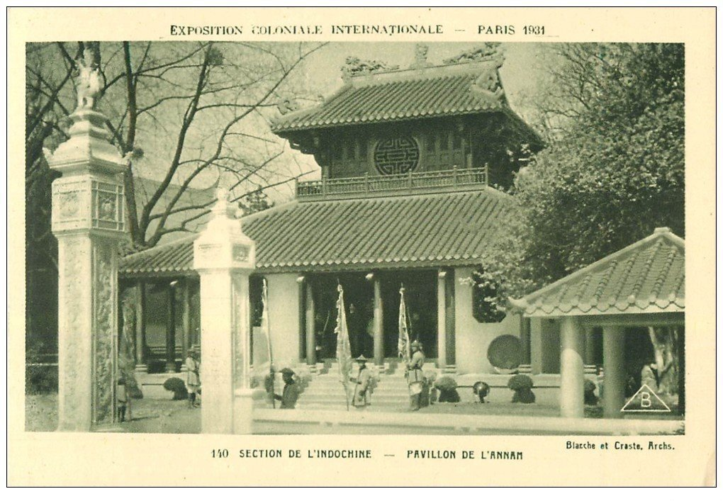 carte postale ancienne EXPOSITION COLONIALE INTERNATIONALE PARIS 1931. Indochine Annam