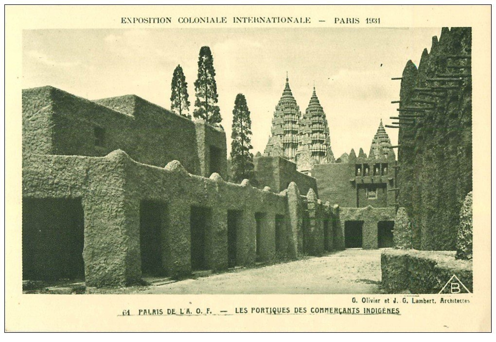 carte postale ancienne EXPOSITION COLONIALE INTERNATIONALE PARIS 1931. A.O.F Commerçants Indigènes