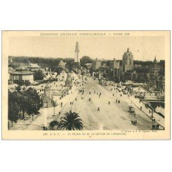 carte postale ancienne EXPOSITION COLONIALE INTERNATIONALE PARIS 1931. A.O.F et Indochine