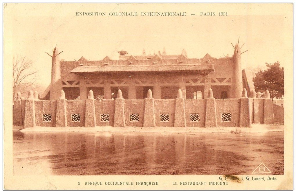 carte postale ancienne EXPOSITION COLONIALE INTERNATIONALE PARIS 1931 Restaurant indigène