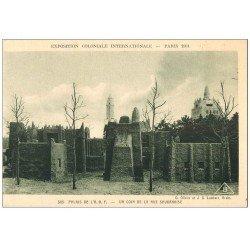 carte postale ancienne EXPOSITION COLONIALE INTERNATIONALE PARIS 1931. A.O.F Rue Soudanaise