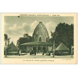 carte postale ancienne EXPOSITION COLONIALE INTERNATIONALE PARIS 1931. Afrique Equatoriale