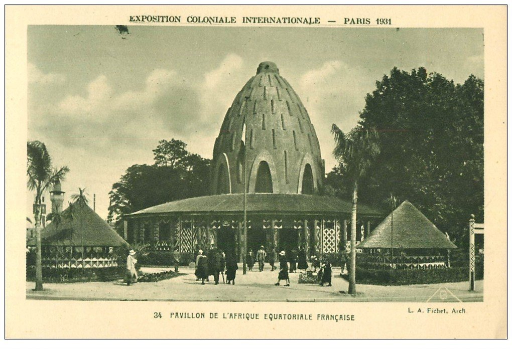 carte postale ancienne EXPOSITION COLONIALE INTERNATIONALE PARIS 1931. Afrique Equatoriale