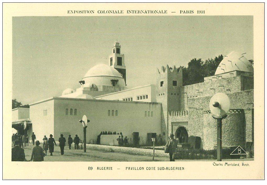 carte postale ancienne EXPOSITION COLONIALE INTERNATIONALE PARIS 1931. Algérie 69