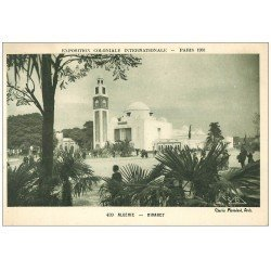 carte postale ancienne EXPOSITION COLONIALE INTERNATIONALE PARIS 1931. Algérie Minaret