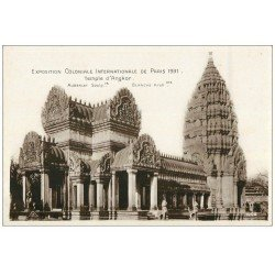 carte postale ancienne EXPOSITION COLONIALE INTERNATIONALE PARIS 1931. Angkor