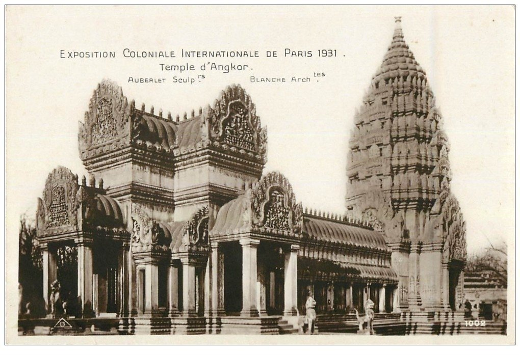 carte postale ancienne EXPOSITION COLONIALE INTERNATIONALE PARIS 1931. Angkor