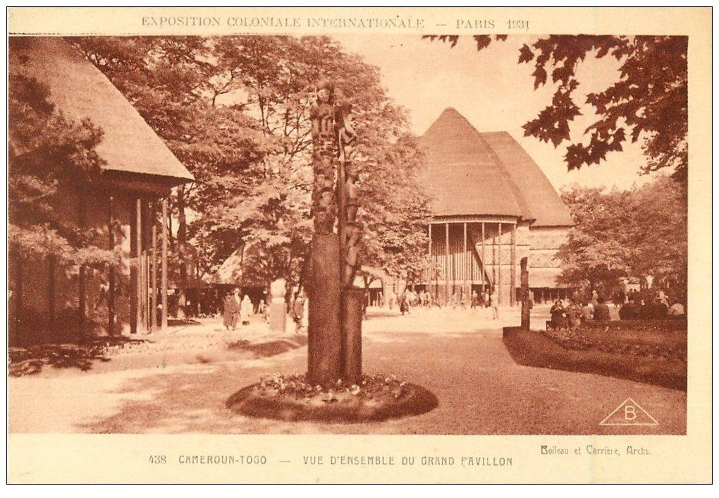 carte postale ancienne EXPOSITION COLONIALE INTERNATIONALE PARIS 1931. Cameroun Togo