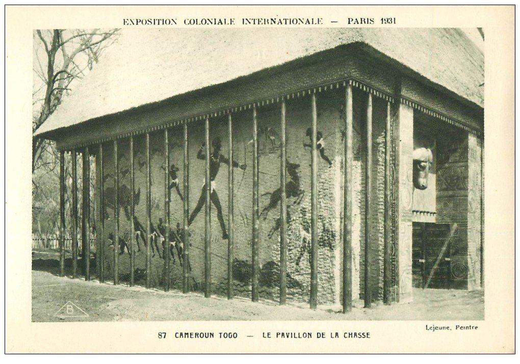carte postale ancienne EXPOSITION COLONIALE INTERNATIONALE PARIS 1931. Cameroun Togo Chasse