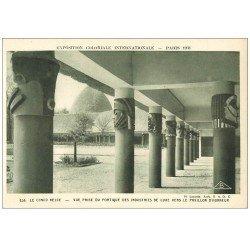 carte postale ancienne EXPOSITION COLONIALE INTERNATIONALE PARIS 1931. Congo Belge