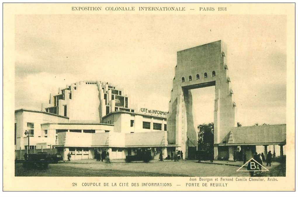 carte postale ancienne EXPOSITION COLONIALE INTERNATIONALE PARIS 1931. Coupole Informations