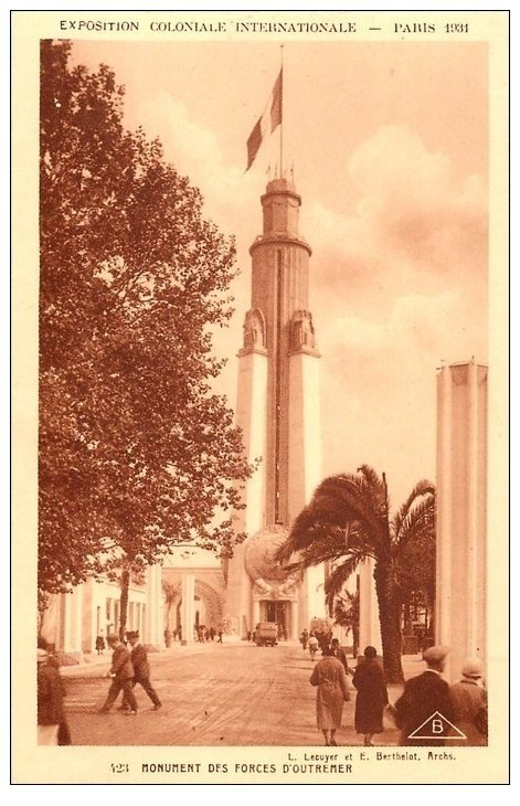 carte postale ancienne EXPOSITION COLONIALE INTERNATIONALE PARIS 1931. Forces Outremer