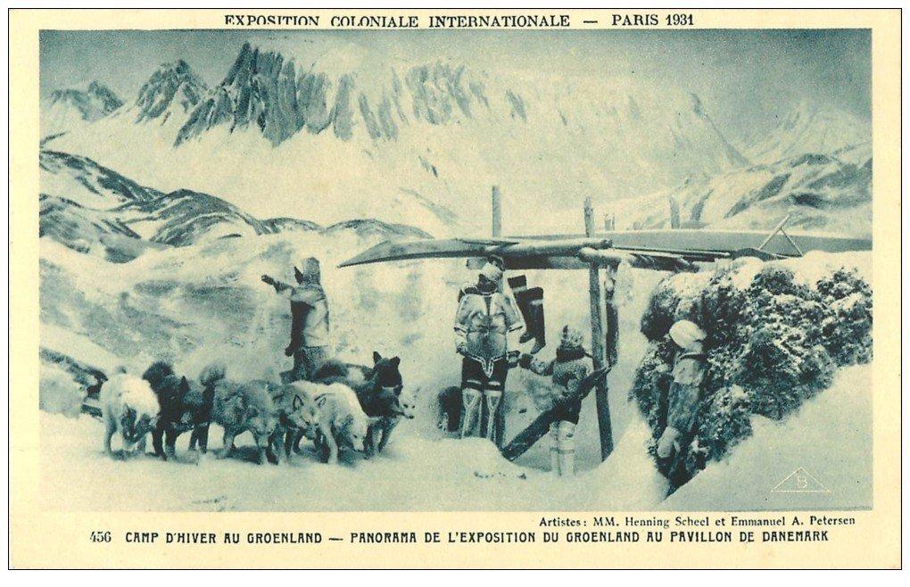 carte postale ancienne EXPOSITION COLONIALE INTERNATIONALE PARIS 1931. Groenland Pavillon Danemark