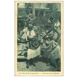 carte postale ancienne EXPOSITION COLONIALE INTERNATIONALE PARIS 1931. Guadeloupe Danseuses