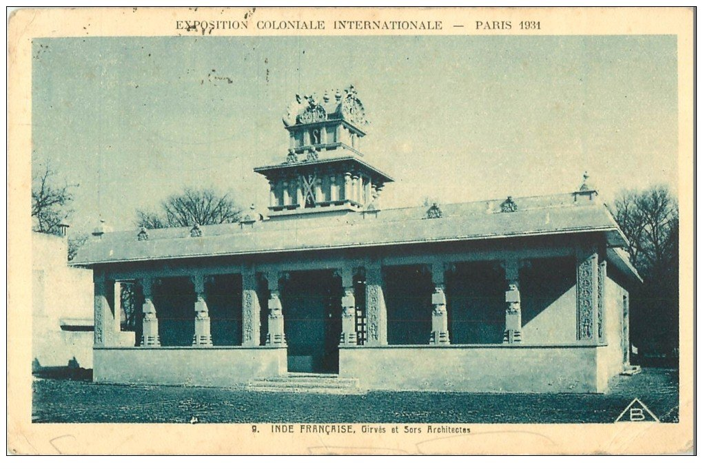 carte postale ancienne EXPOSITION COLONIALE INTERNATIONALE PARIS 1931. Inde Française