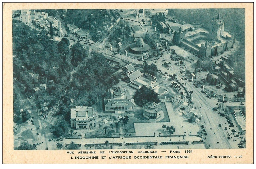 carte postale ancienne EXPOSITION COLONIALE INTERNATIONALE PARIS 1931. Indochine et Afrique