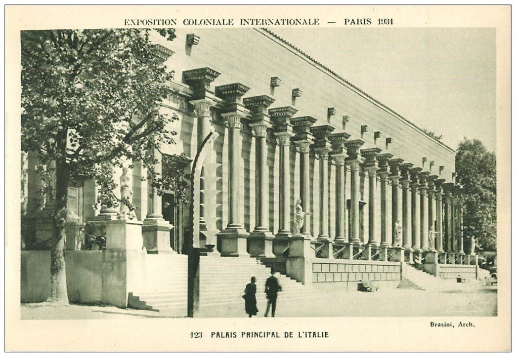 carte postale ancienne EXPOSITION COLONIALE INTERNATIONALE PARIS 1931. Italie 123