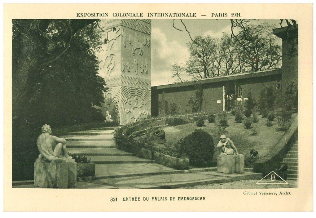 carte postale ancienne EXPOSITION COLONIALE INTERNATIONALE PARIS 1931. Madagascar 351