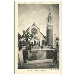 carte postale ancienne EXPOSITION COLONIALE INTERNATIONALE PARIS 1931. Missions Catholiques