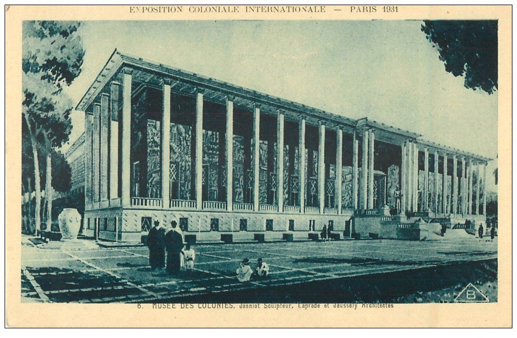 carte postale ancienne EXPOSITION COLONIALE INTERNATIONALE PARIS 1931. Musée Colonies