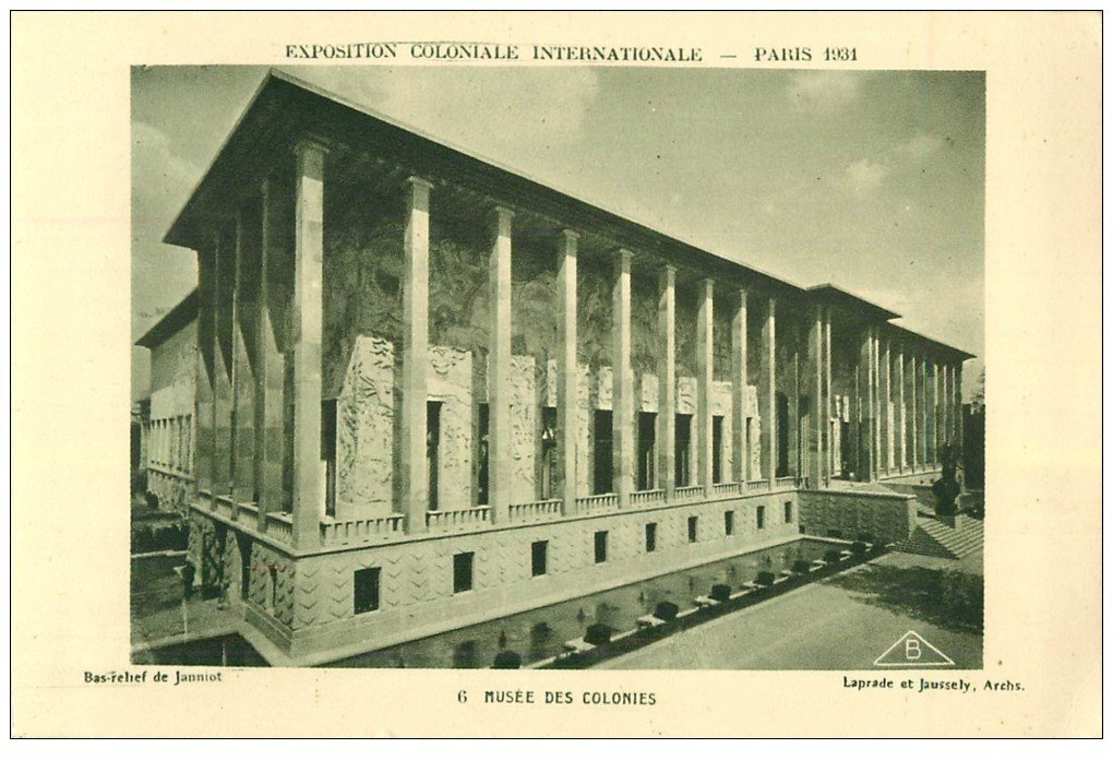 carte postale ancienne EXPOSITION COLONIALE INTERNATIONALE PARIS 1931. Musée Colonies 6