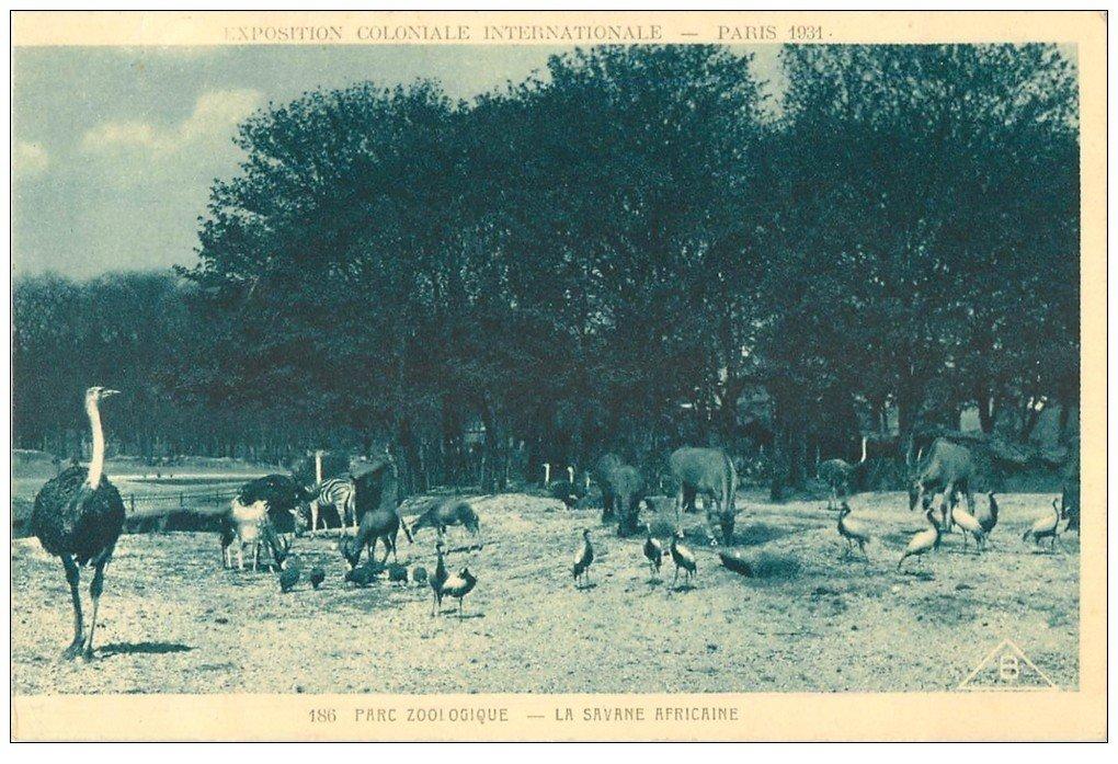 EXPOSITION COLONIALE INTERNATIONALE PARIS 1931. Parc Zoologique