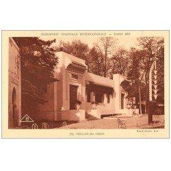 carte postale ancienne EXPOSITION COLONIALE INTERNATIONALE PARIS 1931. Pavillon Tabacs
