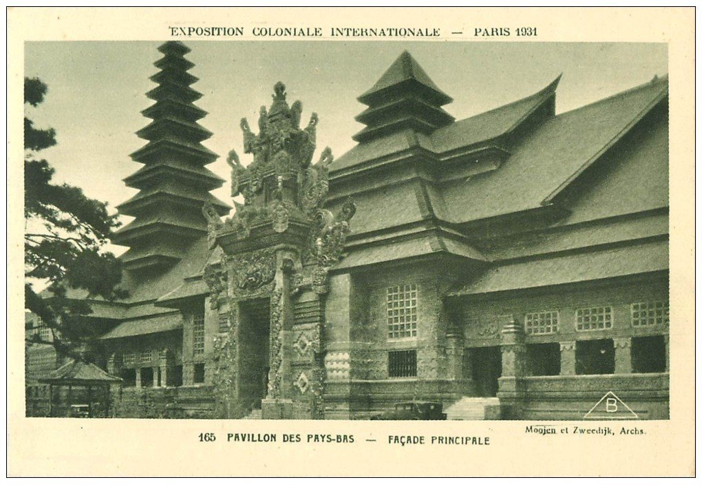 carte postale ancienne EXPOSITION COLONIALE INTERNATIONALE PARIS 1931. Pays-Bas